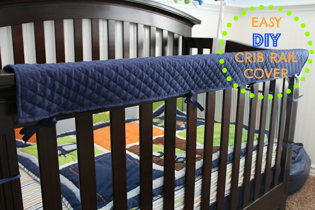 Easy DIY Crib Rail Cover